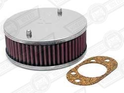 AIR FILTER-K&N ROUND, HIF44 1 3/4'' CENTRAL MOUNTING HOLE