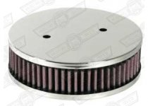 AIR FILTER-K&N ROUND, HS4 1 1/2'' SU CENTRAL MOUNTING HOLE