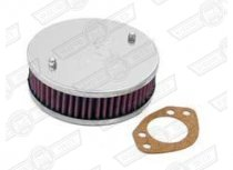 AIR FILTER-K&N ROUND HS6 1 3/4'' SU OFFSET MOUNTING HOLE
