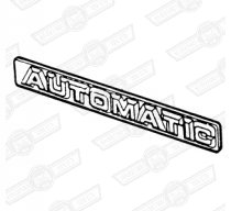 BADGE-BOOT LID-'AUTOMATIC' (SELF ADHESIVE)