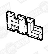 BADGE BOOT LID-'HL'