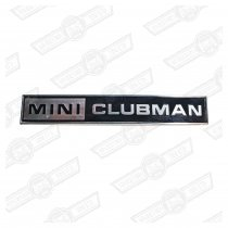 BADGE-BOOT LID-'MINI CLUBMAN'-'69-'75