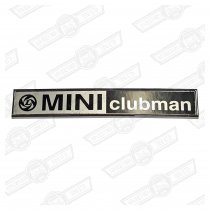 BADGE-BOOT LID-'MINI CLUBMAN' AND LEYLAND LOGO-'77 ON