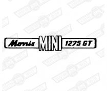 BADGE-BOOT LID-'MORRIS MINI 1275GT'-69-'75 EXPORT
