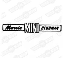 BADGE-BOOT LID-'MORRIS MINI CLUBMAN'-'69-'75 EXPORT