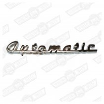 BADGE-BOOTLID-'AUTOMATIC' SCRIPT-MK1/2
