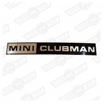 BADGE-BOOTLID-FOIL ONLY-'MINI CLUBMAN'-'69-'75
