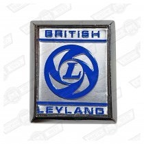 BADGE-'BRITISH LEYLAND'-BLUE ON SILVER-'72-'75 'A' PANEL