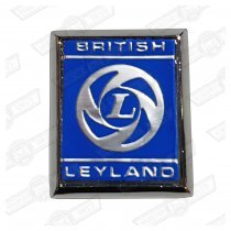 BADGE-'BRITISH LEYLAND'-SILVER ON BLUE-'69-'71 'A' PANEL