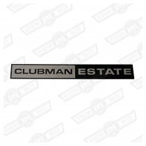 BADGE-FOIL ONLY-'CLUBMAN ESTATE'-'69-'75