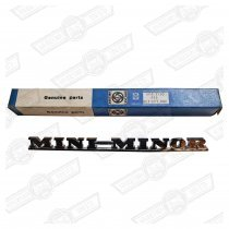 BADGE-'MINI MINOR'-REAR-'59-'67 GENUINE BMC