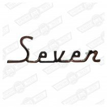 BADGE-'SEVEN' -BOOT LID-EARLY MK1