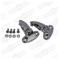 BOOT-HINGE-CHROME-PAIR