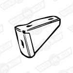 BRACKET-UPPER TANK STRAP TO PARCEL SHELF-'69-'75-CANADA&SWEE