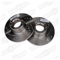 BRAKE DISC-8.4'' DRILLED & GROOVED-PAIR