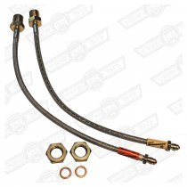 BRAKE HOSE SET- STAINLESS STEEL BRAIDED, PAIR FRONTS ONLY