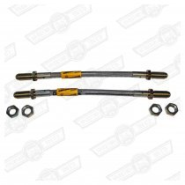 BRAKE HOSE SET-STAINLESS STEEL BRAIDED- REAR-PAIR