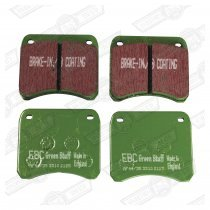 BRAKE PAD SET-EBC GREEN STUFF, FAST ROAD,998 COOPER 7'' DISC