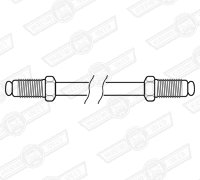 BRAKE PIPE-CUNIFER-22'' LONG- 2 x M10 MALE UNIONS