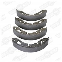 BRAKE SHOE SET-1 1/4'' REAR AND FRONT TO '64 MINTEX