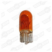 BULB-CAPLESS, PUSH FIT,AMBER 12V-5W-SIDE LIGHT ETC