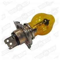 BULB-H4-HALOGEN-YELLOW GLASS-12V-60/55W