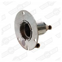 BULB HOLDER-METAL-FRONT INDICATOR,(includes contacts)'59-'88