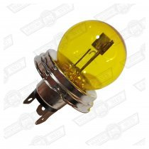 BULB-P45T HEADLAMP-45/40W YELLOW GLASS-LHD