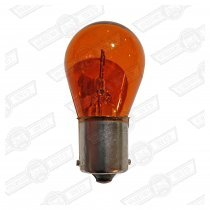 BULB-SINGLE FILAMENT, AMBER-(INDICATOR ETC) 12V-21W