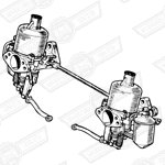 CARBURETTER KIT-TWIN H4 AUD178-NO MANIFOLD OR LINKAGES