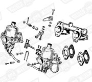 CARBURETTER KIT-TWIN H4-AUD178 WITH MANIFOLD & LINKAGES