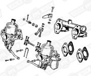 CARBURETTER KIT-TWIN H4 AUD59 WITH MANIFOLD & LINKAGES