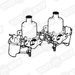 CARBURETTERS-PAIR-HS4 WITH LINKAGES ONLY