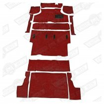 CARPET SET-CLUBMAN ESTATE DELUXE-RED RHD