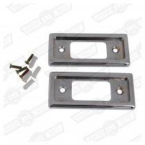 CHROME DOOR LATCH PLATES - PAIR