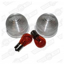 CLEAR INDICATOR LENS KIT-'59-'88 (PUSH-IN)