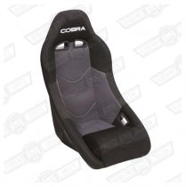 COBRA CLUBMAN SEAT-GREY CENTRE, BLACK OUTER FABRIC