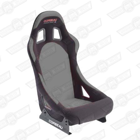 CORBEAU FORZA SPORT SEAT-BLACK OUTER,GREY INNER, CLOTH