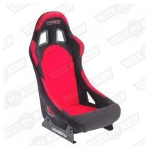 CORBEAU FORZA SPORT SEAT- BLACK OUTER, RED INNER, CLOTH