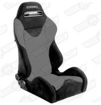 CORBEAU TARGA SPORT SEAT- BLACK OUTER/GREY INNER CLOTH