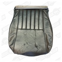 COVER- FRONT SEAT CUSHION-BLACK LEATHER-COOPER & SE