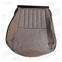 COVER-FRONT SEAT CUSHION-CHEVRON/STONE BEIGE-MAYFAIR/BOC