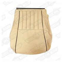 COVER-FRONT SEAT CUSHION-S.BEIGE/BLACK LEATHER-COOPER SE GER