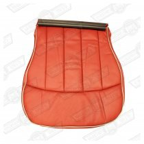 COVER-FRONT SEAT CUSHION-TARTAN RED/CUMULUS LEATHER-OPTION