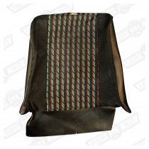 COVER-FRONT SEAT SQUAB-BLACK 'CRAYONS'-1275 COOPER