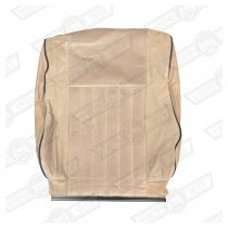 COVER-FRONT SEAT SQUAB-CHEVRON/STONE BEIGE-MAYFAIR/BOC