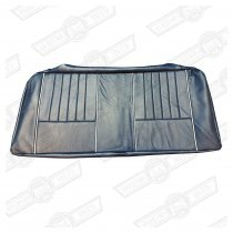 COVER-REAR SEAT CUSHION-PRUSSIAN BLUE/L S BEIGE LEATHER-'40'