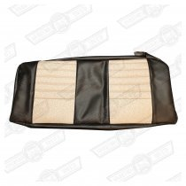 COVER-REAR SEAT CUSHION-STONE BEIGE/BLACK MONACO-COOPER