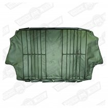 COVER-REAR SEAT SQUAB-GREEN/BLACK LEATHER-COOPER SE
