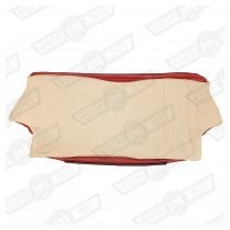 COVER-REAR SEAT SQUAB-LSB/TARTAN RED CHOPSTICKS-2000 'SEVEN'